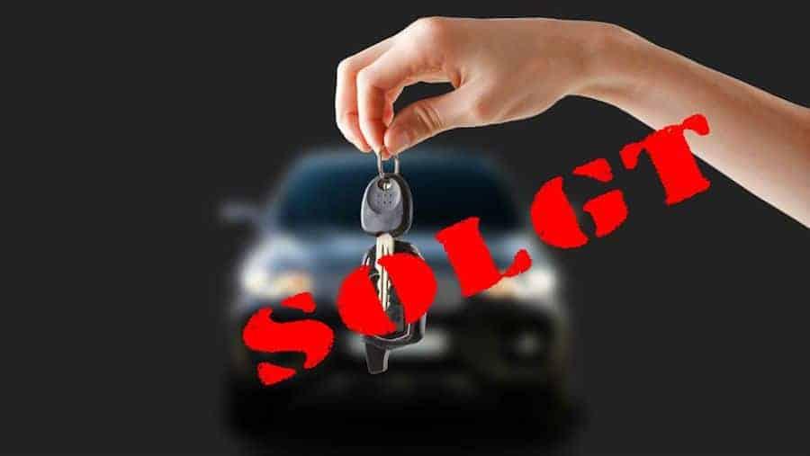 Bilen er solgt
